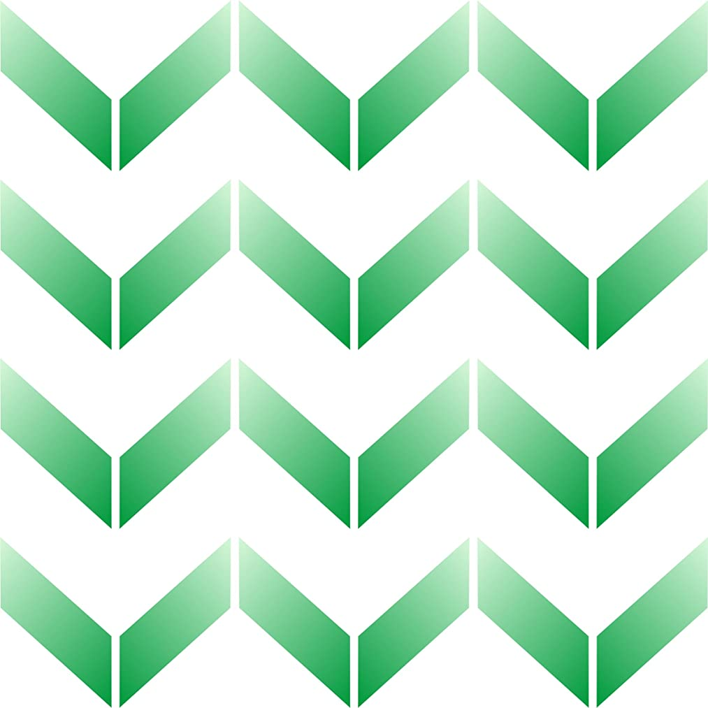 "Chevron Wall Stencil - (size 6.5""w x 6.5""h) Reusable Wall Stencils for Painting - Best Quality Allover Wallpaper ideas - Use on Walls, Floors, Fabrics, Glass, Wood, Terracotta, and More……"