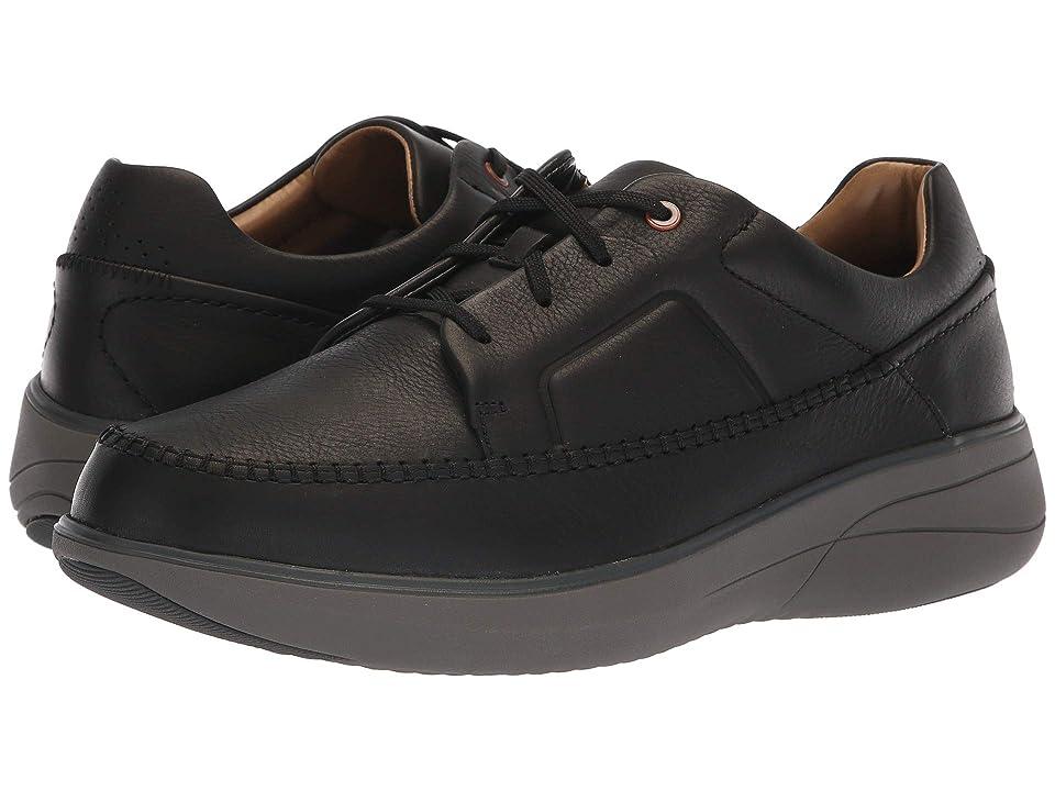 Clarks Un Rise Lace (Black Leather) Men