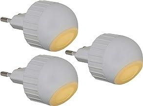 Trango 3er Pack LED-stekkerlicht Wandlamp Oriëntatieverlichting Kindlicht Nachtlampje Stopcontact TG11-36E Veiligheidslich...