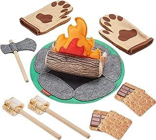 Fisher-Price S'More Fun Campfire - 18 قطعه بازی تظاهر کمپینگ با چوب واقعی برای کودکان پیش دبستانی 3 سال