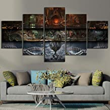 YYDXDB 5 canvas paintings Mortal Kombat Game Poster Pictures Wall Art for Home Decor Framed-20x35 20x45 20x55cm