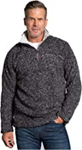 True Grit Men's Softest Tip Shearling 1/4 Zip Pullover