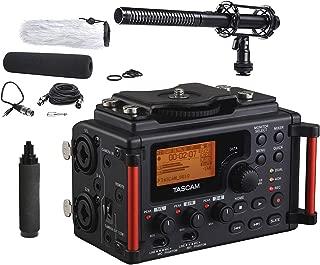 Tascam DR-60DmkII 4-Channel Portable DSLR Audio Recorder with Movo Supercardioid Shotgun XLR Video Microphone