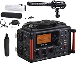 Tascam DR-60DmkII 4-Channel Portable DSLR Audio Recorder with Movo Supercardioid Shotgun XLR Video Microphone