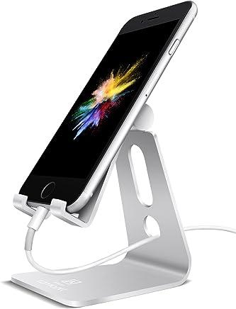 Supporto Telefono, Lamicall Dock Telefono : Multi-angolo Supporto Dock per Phone Xs Xs Max XR X 8 7 6 6S Plus 5 5S 4 4S, HUAWEI, Samsung S9 S8 S7 S6 S5 S4 S3, Scrivania, Altri Smartphone - Argento
