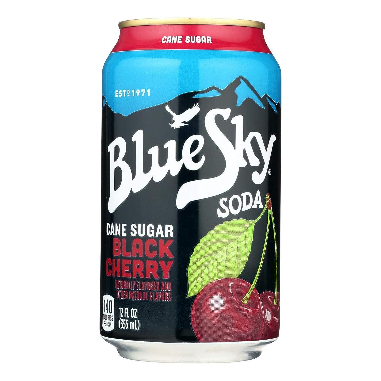 Blue Sky Soda Black 6pk Cheap Cherry Opening large release sale