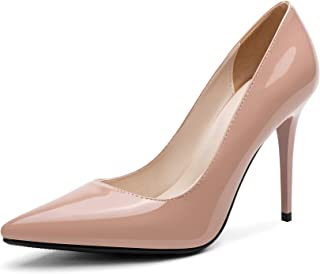 Women Patent Leather Stiletto High Heel Pointed Toe Pull...