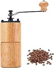 Houten handmatige koffiemolen, handslinger Koffiemolen met keramische bramen Instelbare instellingen Precisie brouwen, com...