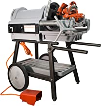 RIDGID 1224 Pipe Threading Machine 26092 with Genuine 711 714 Die Heads with NEW 47745 47750 Dies 150A Cart (Renewed)