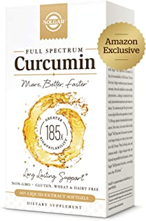 Solgar Full Spectrum Curcumin Liquid Extract, 105 Softgels - Faster Absorption - Brain, Joint & Immune Heal...