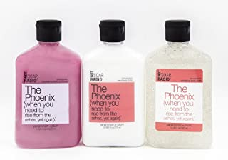 Bubble Bath, Shower Gel and Lotion Trio - The Phoenix - Persimmon Plum Instant Optimism Formula By Not Soap, Radio