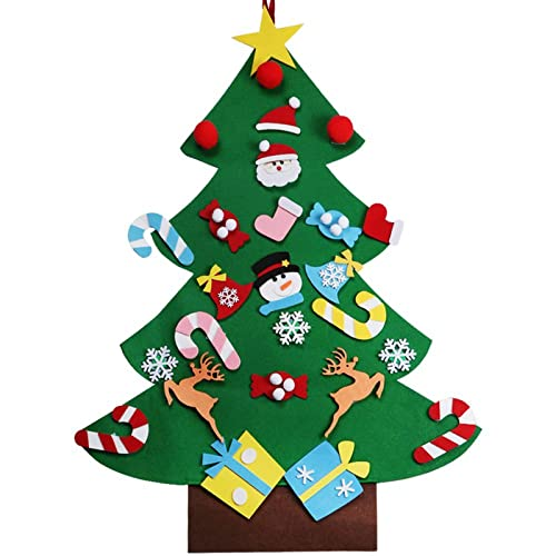Vlovelife 3ft Felt Christmas Tree + 26pcs Detachable Hanging Ornaments Xmas  Party Home Decor Kids DIY 310dad293