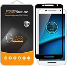(2 Pack) Supershieldz for Motorola (Droid Maxx 2) and Moto X Play Tempered Glass Screen Protector, (Full Screen Coverage) Anti Scratch, Bubble Free (Black)