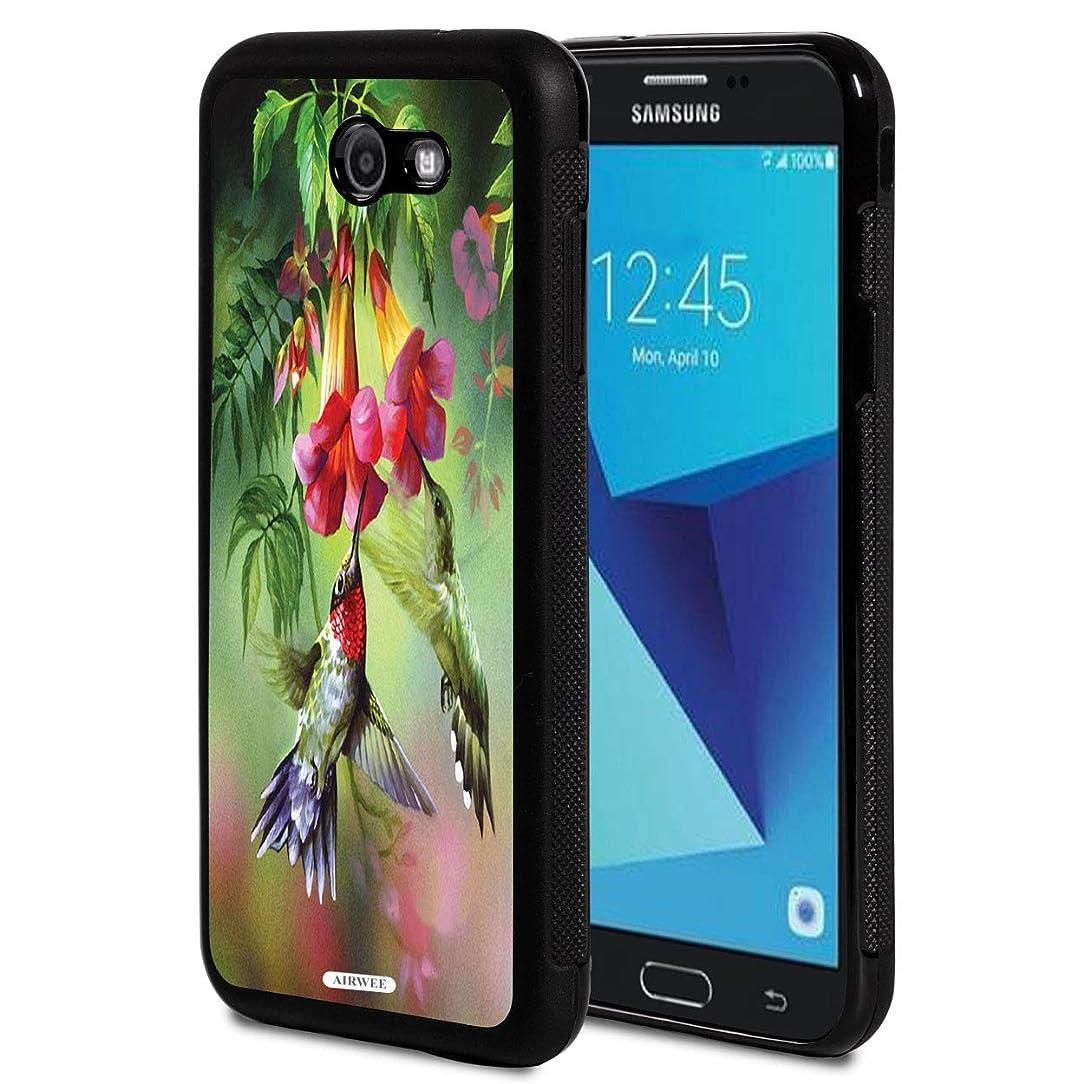Galaxy J7 V/J7 Perx/J7 Sky Pro/J7 Prime/J7 2017/Halo Case,AIRWEE Slim Shockproof TPU Bumper Back Protective Case for Samsung Galaxy J7 2017,Flower Hummingbird