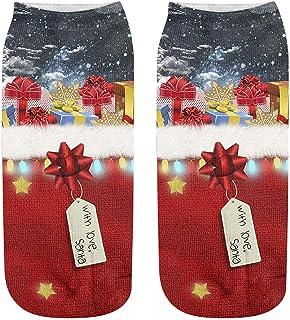 Toamen Ankle Socks, Men Women Unisex Christmas 3D Printed Popular Funny Anklet Socks, Anti-slip Floor Socks Carpet Socks N...