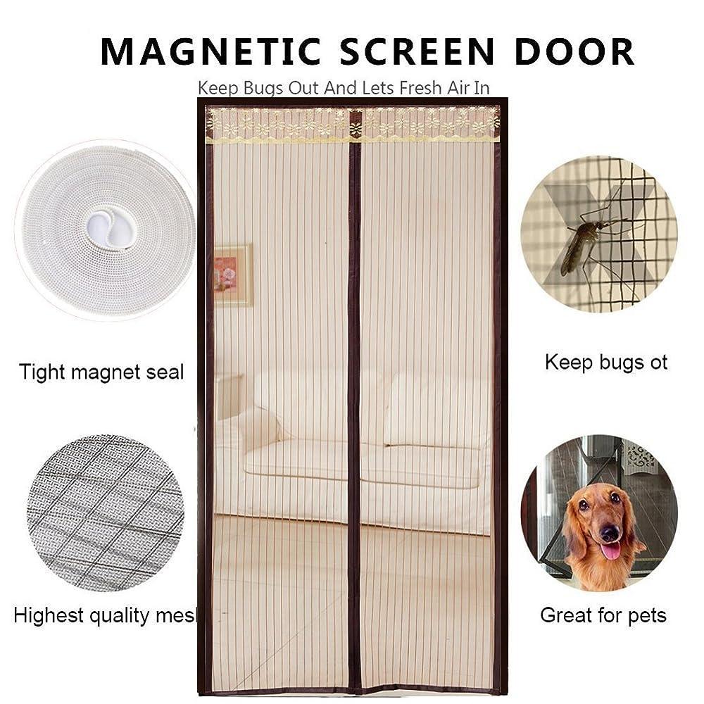 マイルストーンクライマックスメッシュDULPLAY バグ対策 網戸,Diy 磁気 Net のドアの画面 蚊バグ対策 メッシュ カーテン バグ虫を保つし、飛び出す-A 90x210cm(35x83inch)