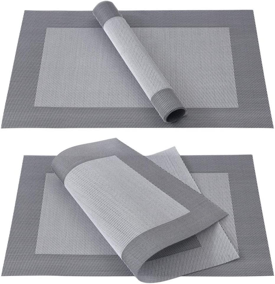 JONARO 6 Pcs PVC Placemats for 再入荷 予約販売 数量限定アウトレット最安価格 Runner Cup Coaster H Table Dining