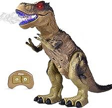 FUN LITTLE TOYS Remote Control Dinosaur for Kids, Electronic Walking & Spray Mist Large Dinosaur Toys with Glowing Eyes, Roaring Dinosaur Sound, 18.5