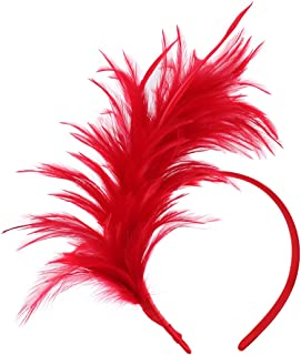 1920s Fascinator Feathers Headband for Women Kentucky Derby Wedding Tea Party Headwear Girls Flapper Headpiece