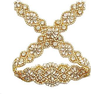80490e0b940cb Bridal Rhinestone Wedding Belts Hand Clear Crystal 22In Length For Bridal  Gowns