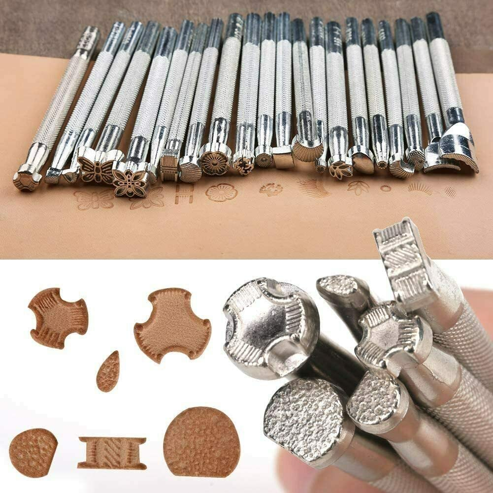 Leather Tools Year-end annual account and Supplies Working 20 Pun Pcs Tool Stamp Translated