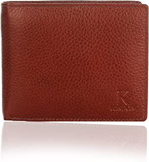 K London Sheffield Grind Handmade Genuine Leather Men's Wallet Brown-539_brn