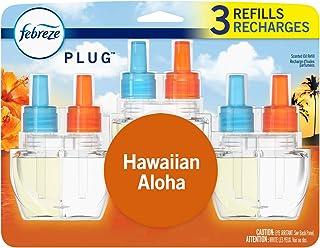 Febreze Plug in Air Freshener and Odor Eliminator, Scented Oil Refill, Hawaiian Aloha