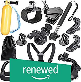 (Renewed) Robustrion 12 in 1 Mounts and Straps Accessory Kit for GoPro Hero 7/6/5/4/3/2/1/SJCAM/Akaso/Apeman/Xiaomi Yi Action Camera