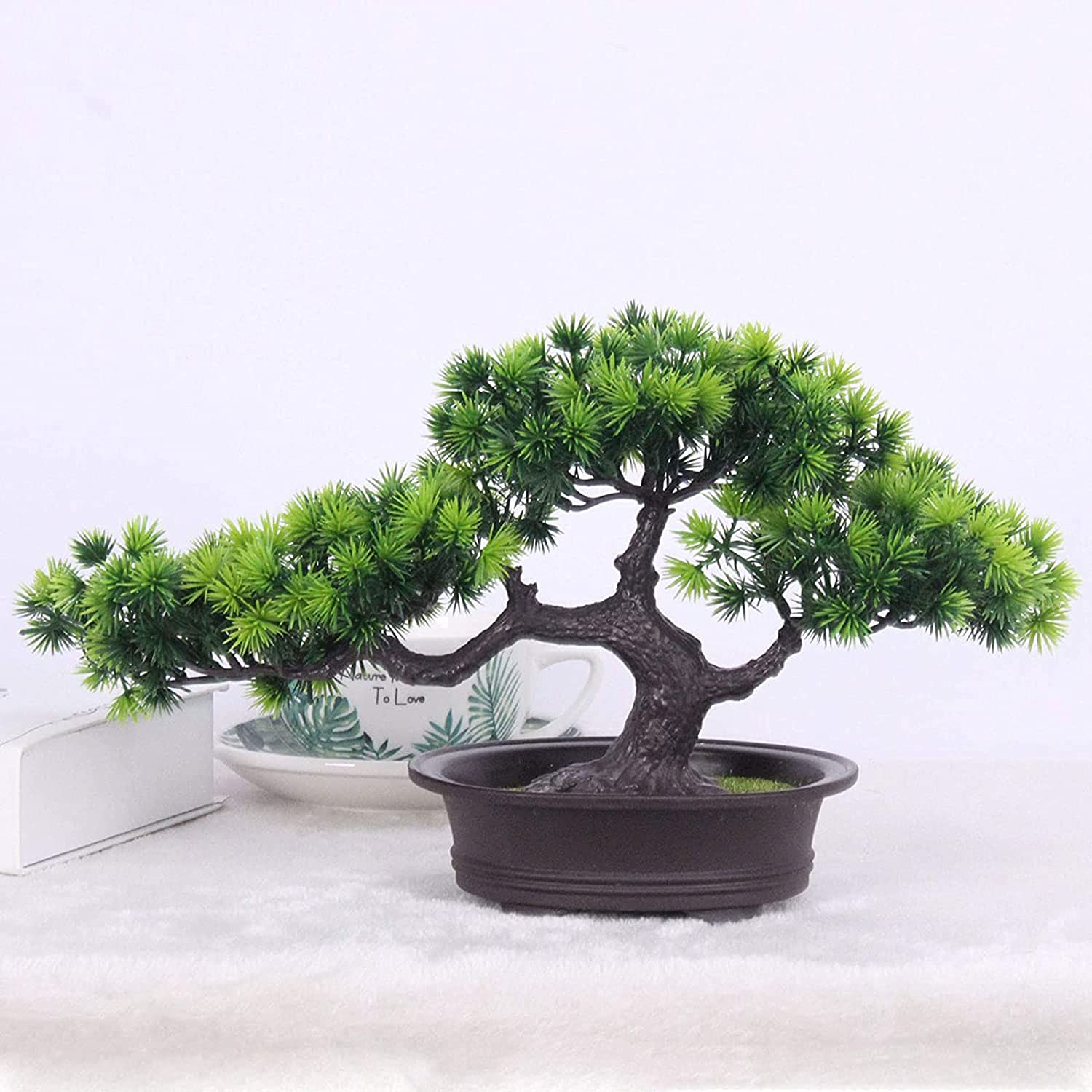 Artificial Plants Bonsai Award Welcoming Pine Tree Desk Pot Si Display A surprise price is realized