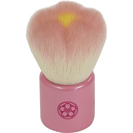 fws-PI 熊野筆 六角館さくら堂 フラワー洗顔ブラシ ピンク 山羊毛/PBT混毛