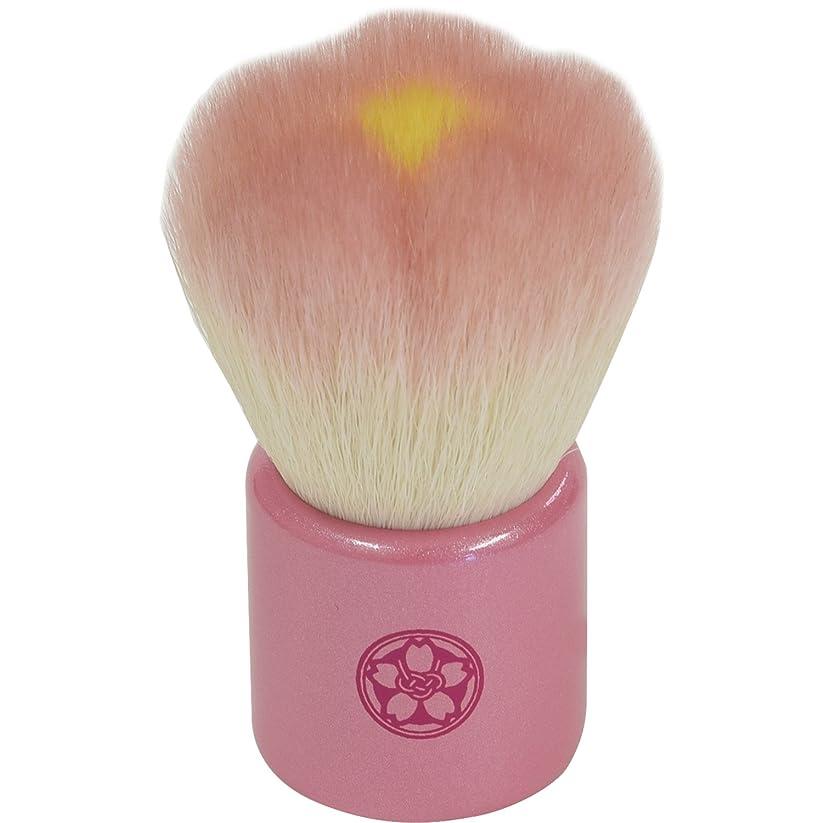 ダルセット同化する強いますfws-PI 熊野筆 六角館さくら堂 フラワー洗顔ブラシ ピンク 山羊毛/PBT混毛