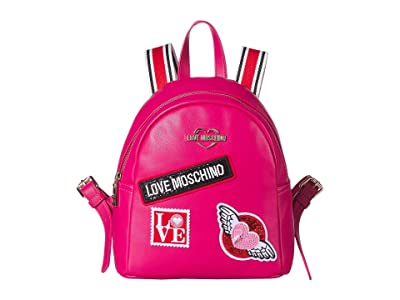 LOVE Moschino Patch Backpack (Fuchsia) Backpack Bags