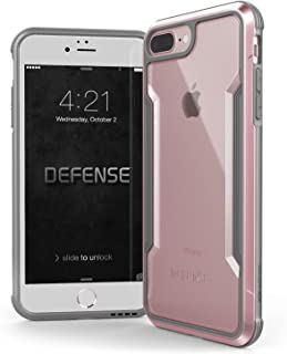 iPhone 8 Plus & iPhone 7 Plus Case, X-Doria Defense Shield - Military Grade Drop Tested, Anodized Aluminum, TPU, and Polycarbonate Protective Case for Apple iPhone 8 Plus & 7 Plus (Rose Gold)