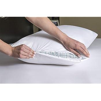 Four Seasons Essentials Standard Pillow Protectors (Set of 2) – Allergy Pillow Cover Bedbug Waterproof Hypoallergenic Dust Mite Proof Zippered Encasement