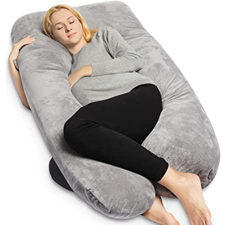 70in G-shape Velvet Full Body Pregnancy Pillow Maternity Support Cushion Nursing