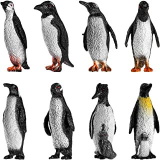TOYMYTOY Penguin Collection Plastic Ocean Animal Penguin Figure Model For Babies and Children 8pcs