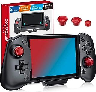 最新版 スイッチ コントローラー Kydlan 携帯モード専用コントローラー for Nintendo Switch グリップコントローラー 【任天堂Switch対応】ジャイロセンサー搭載 HD振動 有線接続モード/コード不要/充電不要