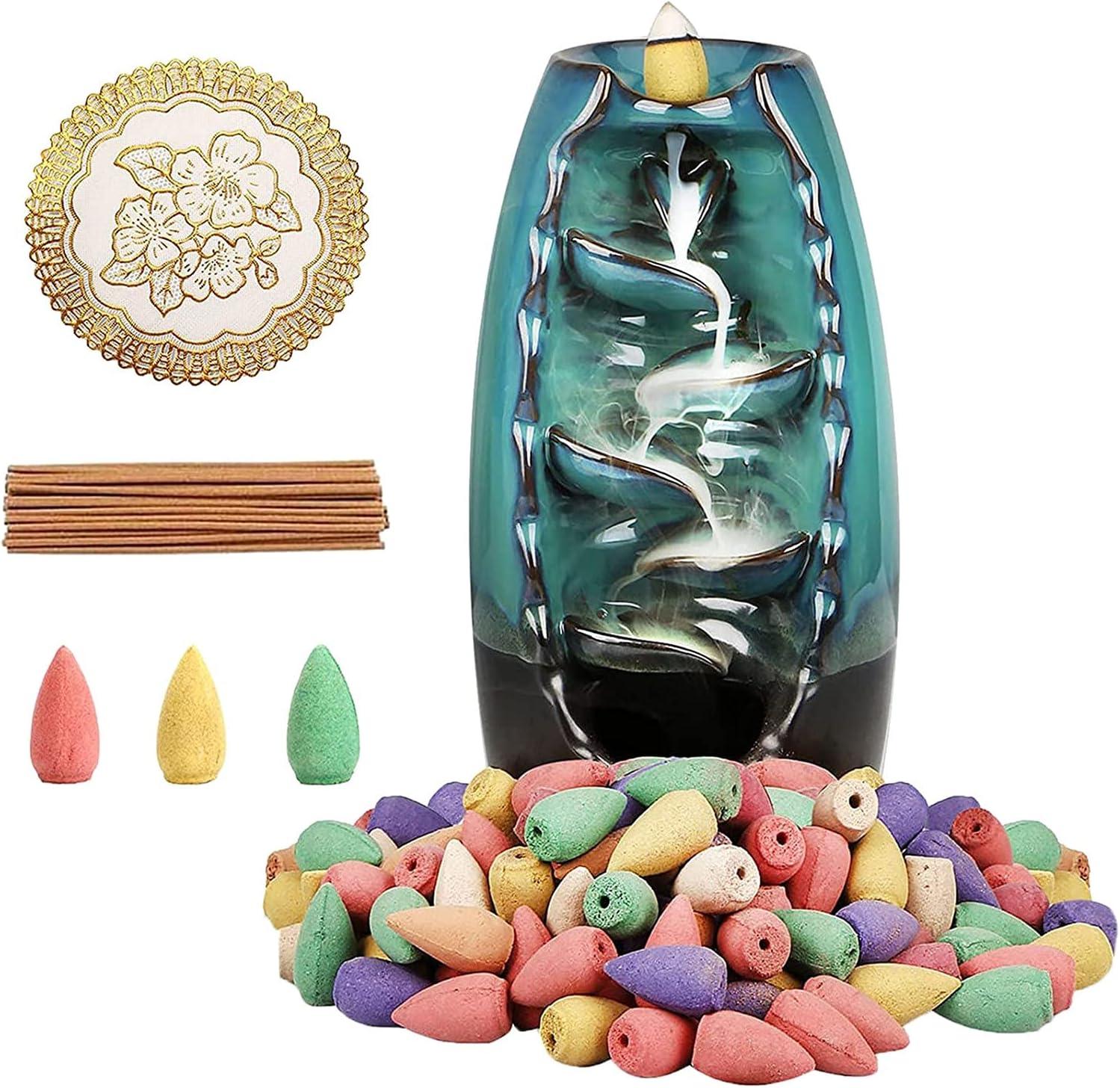 Waterfall Incense Japan Maker Max 66% OFF New Burner Ceramic In Inscents Set Backflow
