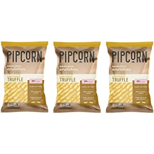 Pipcorn Heirloom Crunchies Truffle Parmesan 7 Ounce (Pack of 3) Organic Cheese, Baked not Fried, Non-GMO, No Preservatives, Gluten Free