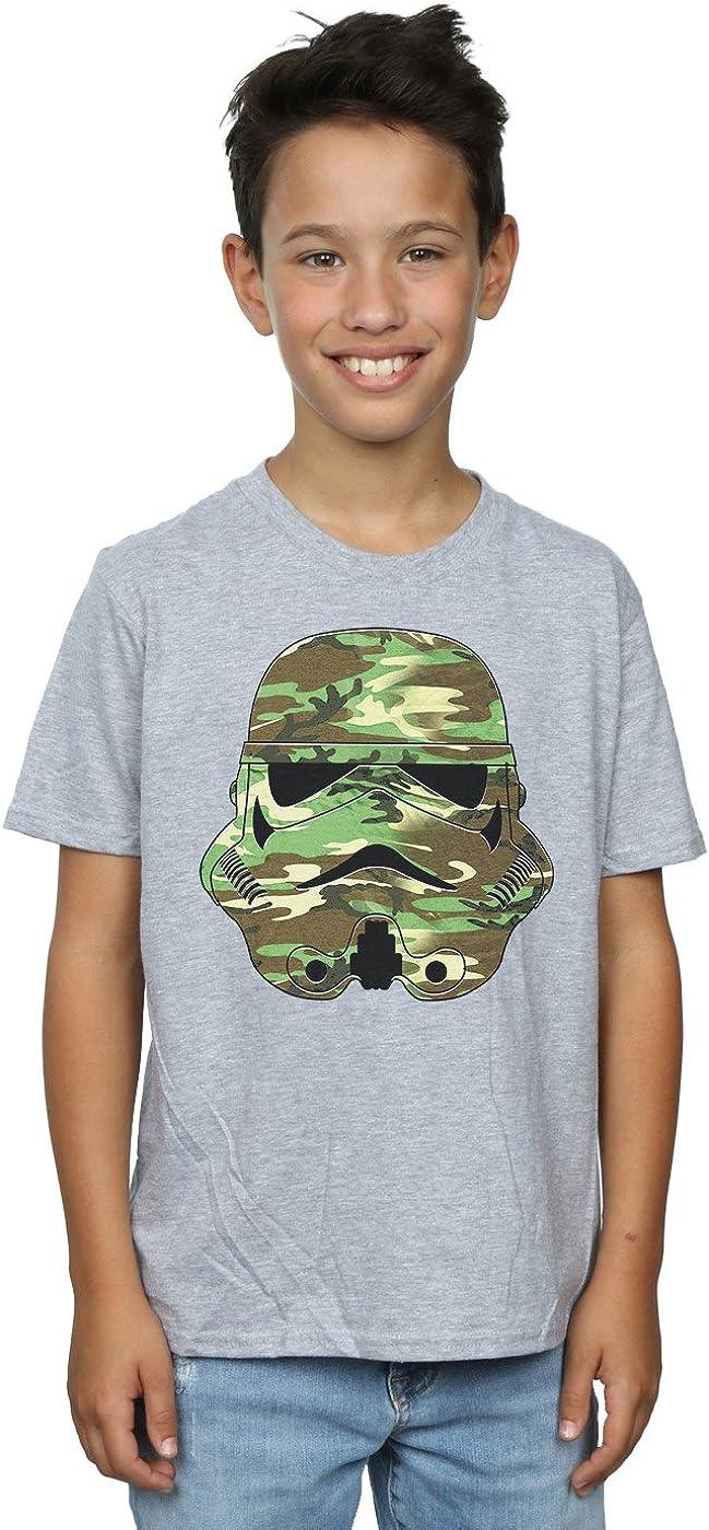 STAR WARS Boys Stormtrooper Command Camo T-Shirt 5-6 Years Sport Grey