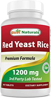Sponsored Ad - Best Naturals Red Yeast Rice 1200 Mg Tablet for Healthy Cholesterol Level, 60 Count (817716015859)