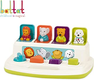 Battat – Pop-Up Pals – Color Sorting Animal Push & Pop Up Toy for Kids 18 Months +