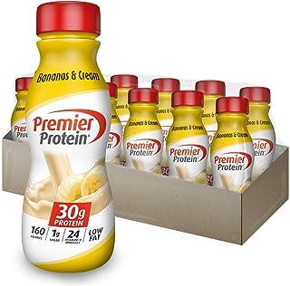 Premier Protein 30g Protein Shake, Bananas & Cream, 11.5 Fl Oz Bottle, (12Count)