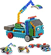 Top Race RC Robot Kit for Kids 4 in 1 Robot Vehicle Building Toy Kit - STEM Toy Includes Build Your Excavator, Motorcycle, Truck or Trailer