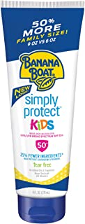Banana Boat Simply Protect Tear Free, Reef Friendly Sunscreen Lotion for Kids, Broad Spectrum SPF 50, 25% Fewer Ingredient...