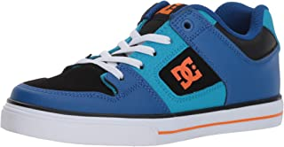 DC Pure Elastic Skate Shoe, Blue, 12.5 M US Little Kid