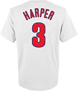 Outerstuff Bryce Harper Philadelphia Phillies White Kids 4-7 Name & Number Jersey T-Shirt