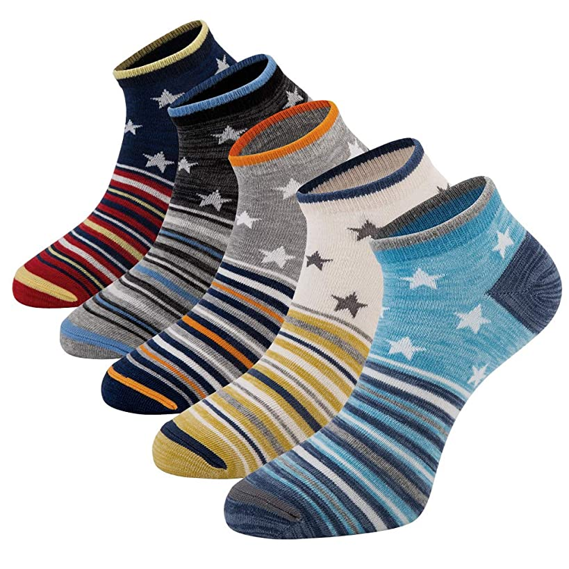 Mens Casual Low Cut Ankle Socks Funny Novelty Dress Socks Athletic Cotton Crew Quarter Socks