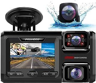 $119 » Sponsored Ad - Pruveeo D40 3 Channel Dash Cam, 1080P+1080P Inside Channel, 1080P +1080P+1080P Front Inside Three Way Tripl...