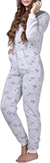 Mono Pijama de Mujer de Tejido Polar, con puños en Las Mangas y Bajos Fruncidos, Extremadamente Suave y Mullido y con Pelo sintético